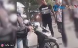 Hemzemin Geçitte İte Kaka Durdurulan Motosikletli