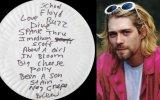Kurt Cobain'in Yazı Yazdığı Kağıt Tabağın 133 Bin Lira'ya Satılması