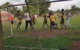 Penaltı Sonrası Hayvan Gibi Dövüşen Futbolcular