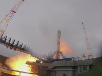 Soyuz Füzesine Yıldırım Çarpması