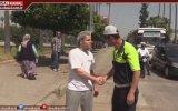 Ceza Olarak Yaya Geçidinden Yürütülen Sürücü  Adana