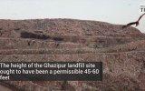 Hindistan  Yeni Delhi'yi Gölgeleyen Çöp Dağı