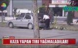 Karpuz Kamyonu Kaza Yapınca Yağmalayan Vatandaş