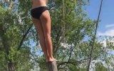 Suya Tarzanlama Girmek İsterken Pert Olan Kız