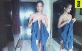 Gömlekten Kendine Elbise Yapan Kız