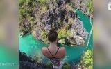 Yüksek Kayalıklardan Suya Atlayan Ellie Smart