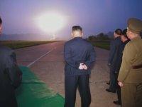 Kuzey Kore Devrimci Lider Kim Jong-un Füze Denemesi
