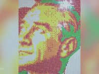 Rubik Küplerle Portreler Yapan Sanatçı (Atatürk İçerir)