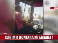 Seyir Halindeyken Her Türlü Cambazlığı Yapan Yurdum Şoförü