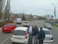 Trafikte Birbirine Giren Sürücüler