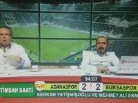 Bursaspor'un Golüyle Çılgınlar Gibi Sevinen Spikerler