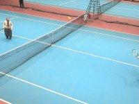 Hülya Avşar'ın Durdu Teyze ile Tenis Maçı Yapması
