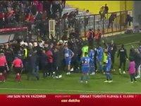 Tuzlaspor-Galatasaray Maçı Sonrası Çıkan Kavga