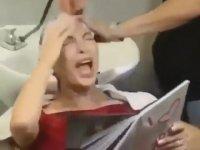 Kuaförün Gazabına Uğrayan Kadın
