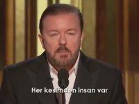 Ricky Gervais'in Bol Laf Sokmalı Altın Küre Konuşması (2020)