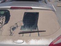 Kirli Araba Camlarını Sanata Dönüştürmek