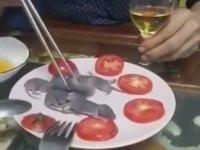 Çin Restoranında Canlı Fare Servisi