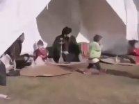 Deprem Çadırında Nargile İçen Suriyeli