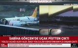 Sabiha Gökçen'de Pegasus Uçağının Feci Kaza Görüntüleri