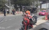 Polis Kovalamasında Devrilen Kamyon