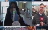 CoronaVirüs Haberini Anlatırken Poşet Şokuna Uğrayan Muhabir