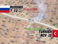 Suriye'de Türk Tankı ile Rus Tankı Arasındaki İt Dalaşı