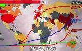 Corona Virüsünün Dünyaya Yayılma Grafiği