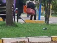 Çocuk Parkında Eğlenen Dedeler