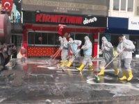 Niğde Belediyesi'nin Sokakları Sabunlu Suyla Foşur Foşur Yıkaması