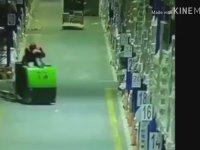 Forklift Kullanırken Uyuyakalan Operatörün İş Kazası