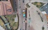 İtalya'da Sokakların Kar Makinesiyle Dezenfekte Edilmesi