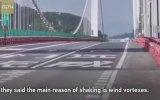 Şiddetli Rüzgarda Beşik Gibi Sallanan Humen Köprüsü