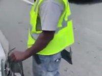 Arabasına Çarpıp Kaçan Adamı Yakalayan Sürücü