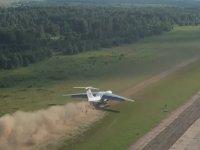 Toprağa İniş Kalkış Yapan Rus Kargo Uçağı