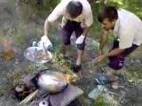Aşkale Karasuda Balık Ziyafeti