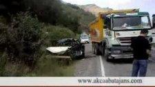 akçaabat'ta trafik kazsı 1 ölü