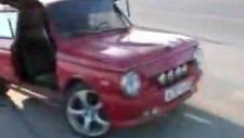 azeriler otomobili iste boyle guzellestirir