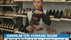 bayanlar için ayakkabı seçimi