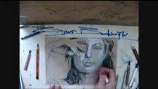 onur bekiroğlu drawings  angelina jolie drawings