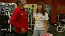 spor salonunda gazcı kız şakası