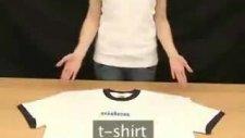 iki saniyede  t-shirt katlama
