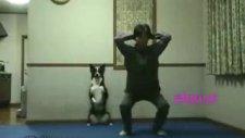 köpeğin sabah sporu