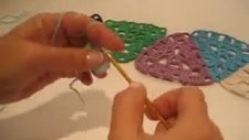 üçgen motifli şal yapımı