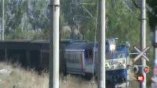 E 43021 Loko Yük Treni Muratlıdan Geçiyor