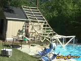 Bahçedeki Havuza Kaydırak Yapalım...