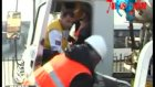 mikser kamyonunda sıkıştı 1 yaralı