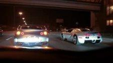 bugatti veyron vs two nissan gt-r
