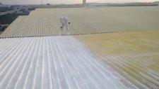 gerkem/sac trapez çatı yalıtımı sprey poliüretan köpük uygulaması