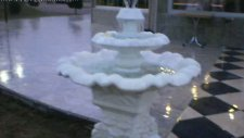 cascade beton papatya süs havuzu