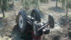 appak köyünde traktör devrildi